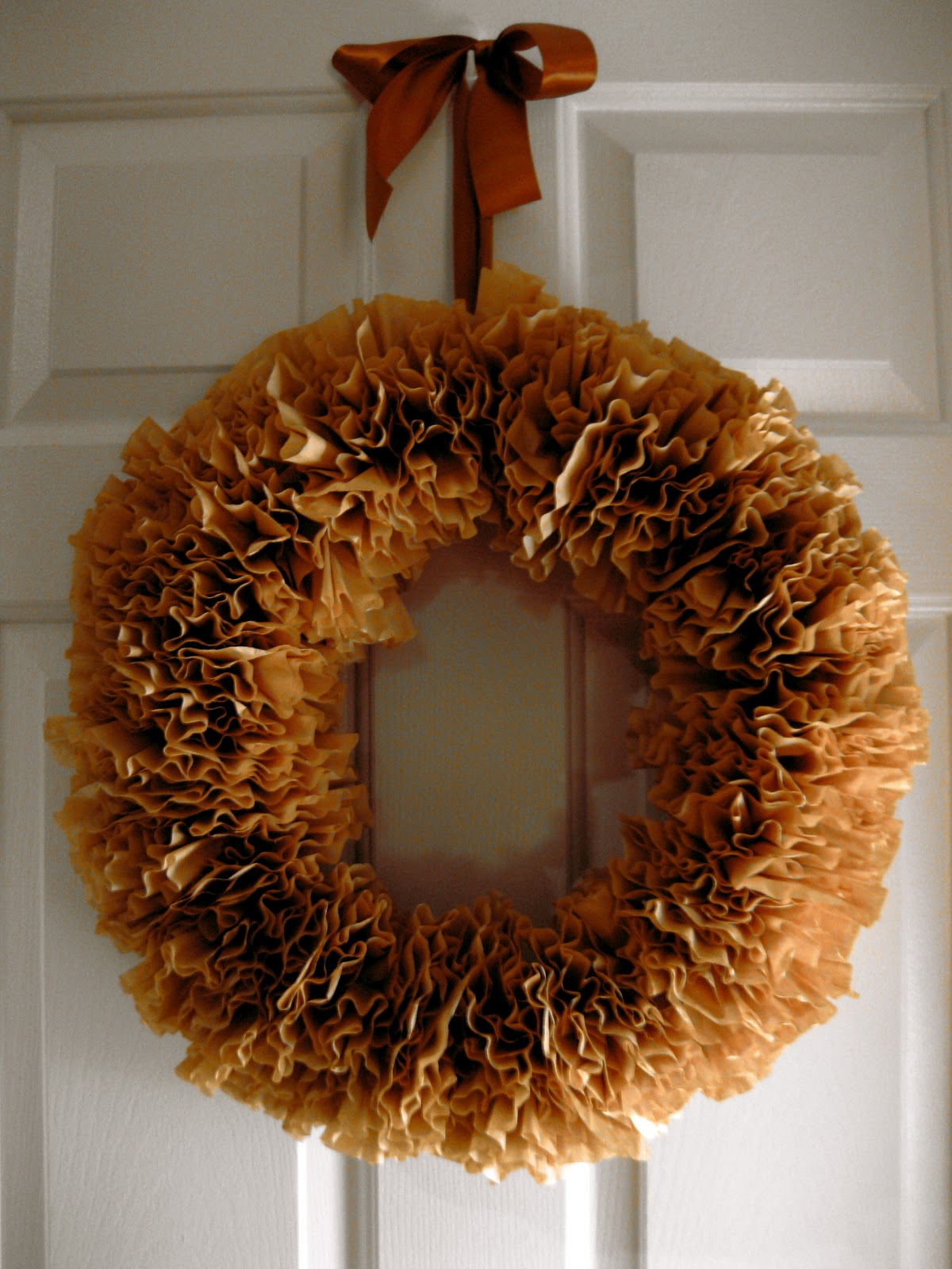 Natural Color Coffee Filter Wreath
