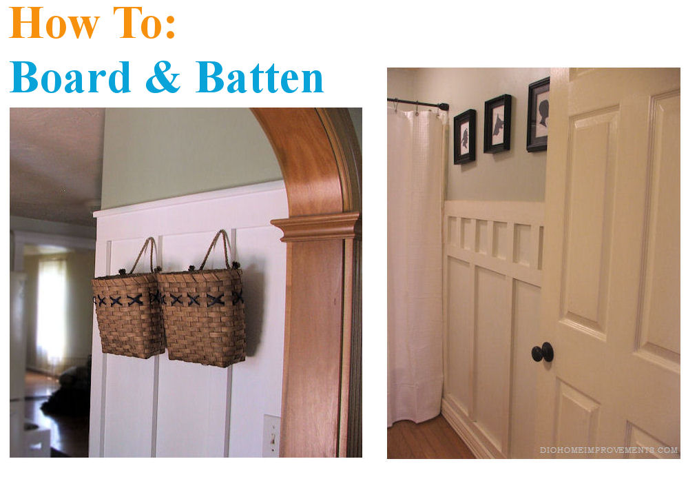 DIY Board & Batten in two different styles!