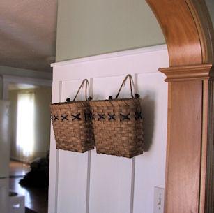 wall baskets, board and batten