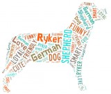 word cloud dog