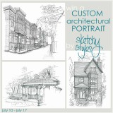 custom architectural sketch