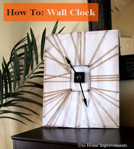 DIY Twine Wall Clock