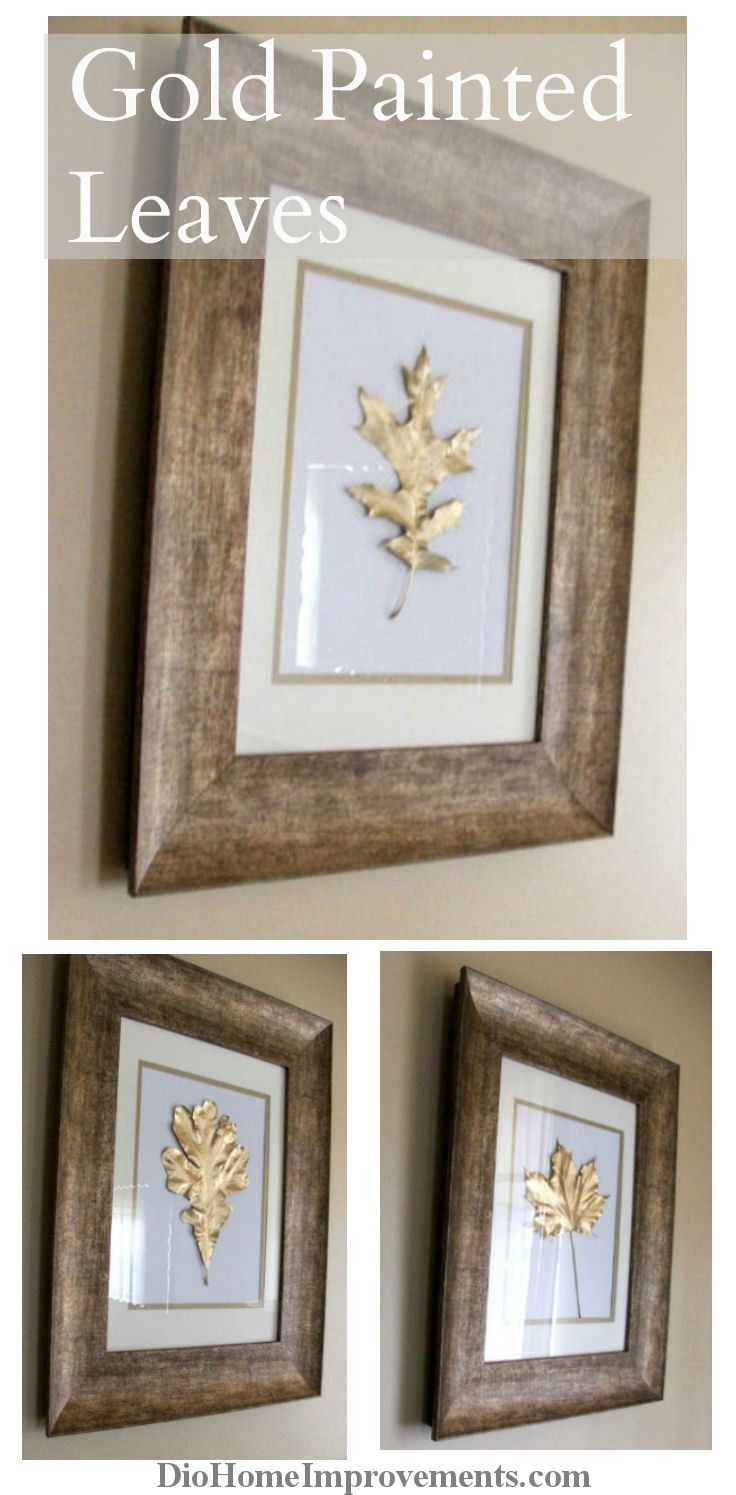 DIY Gold Painted Leaves