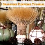 DIY Grapevine Pumpkins