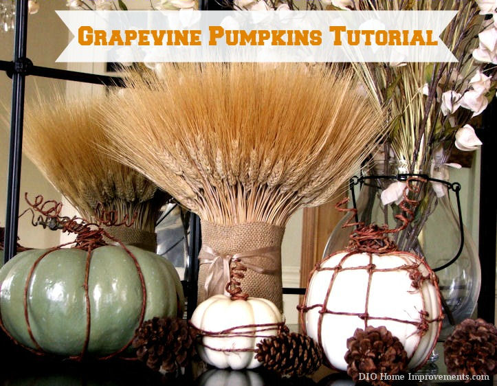 Fall Projects, Grapevine Pumpkins