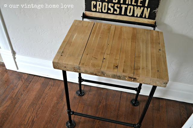 Plumbers Pipe Table - Our Vintage Home Love