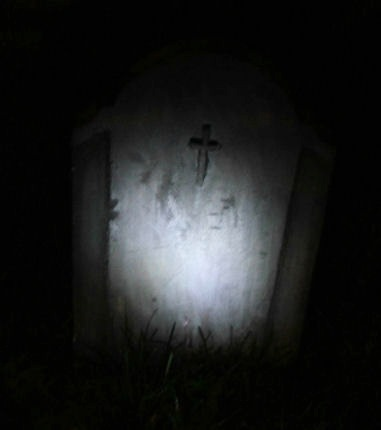 Foam Headstone and prop light - Dio Home Improvements