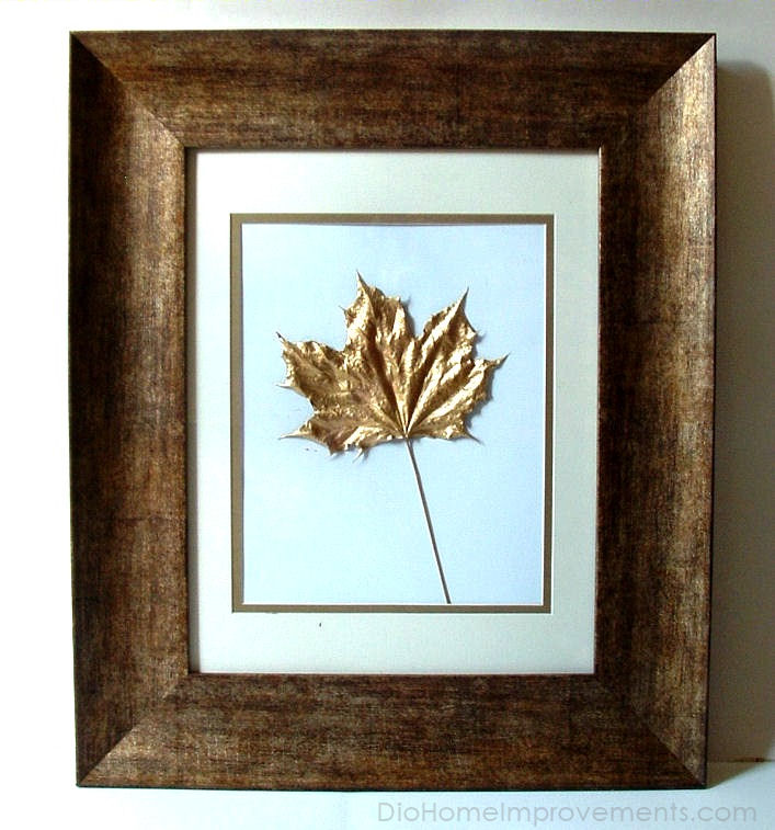 Gold Painted Leaf