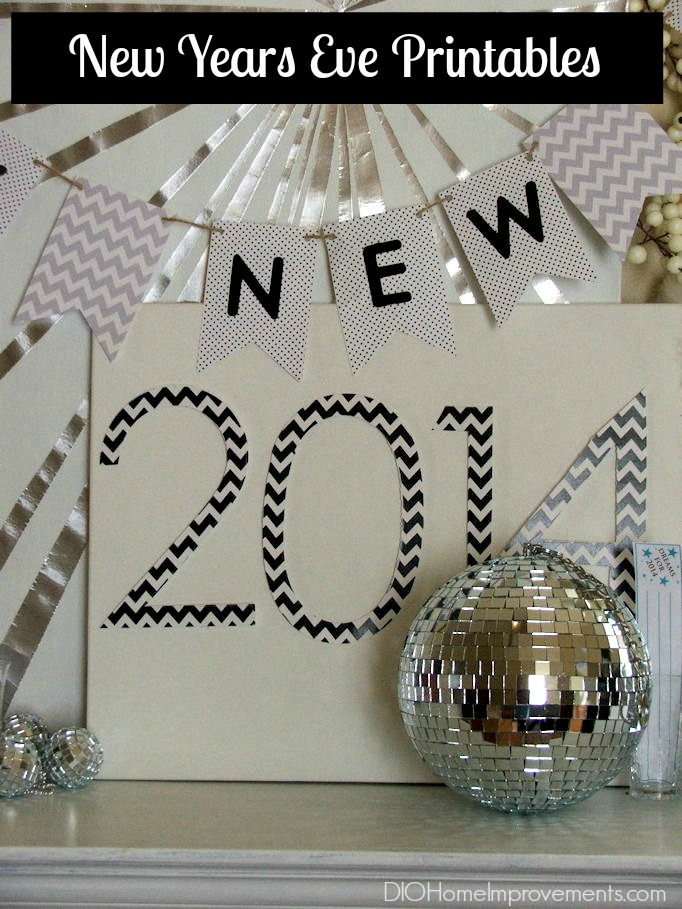 New Years Printables, Banner & Resolutions