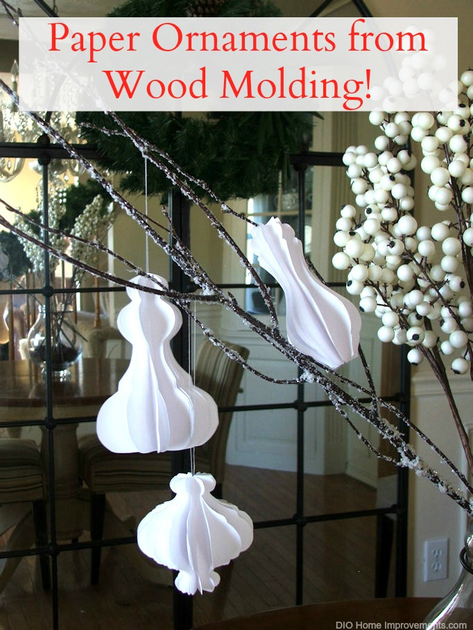 How to make paper ornaments from wood molding