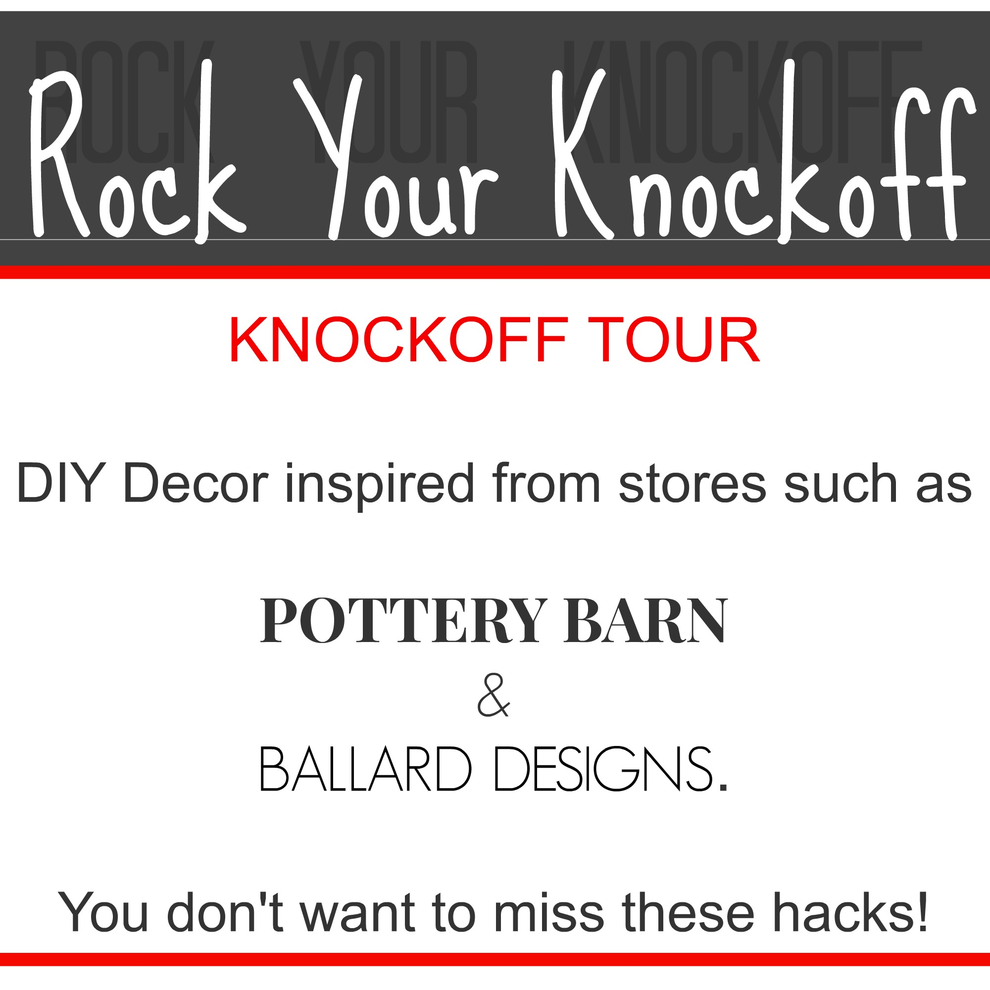 Ballard Designs & Pottery Barn Knockoffs