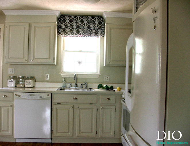 Diy kitchen cabinets less than 250 dio home improvements for Kitchen cabinets makeover