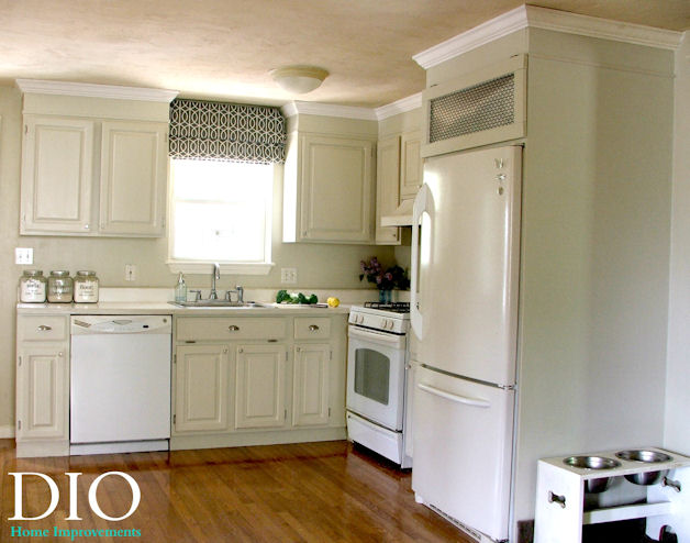 Diy kitchen cabinets less than 250 dio home improvements - Kitchen cabinet diy makeover ...