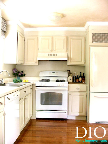 Diy kitchen cabinets less than 250 dio home improvements for Kitchen cabinets for less