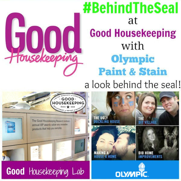 #BehindTheSeal with Olympic Paint & Stain with Good Housekeeping #PPGsponsored