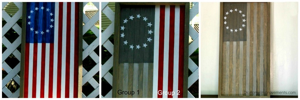 Reversible US Flag Tray / Art