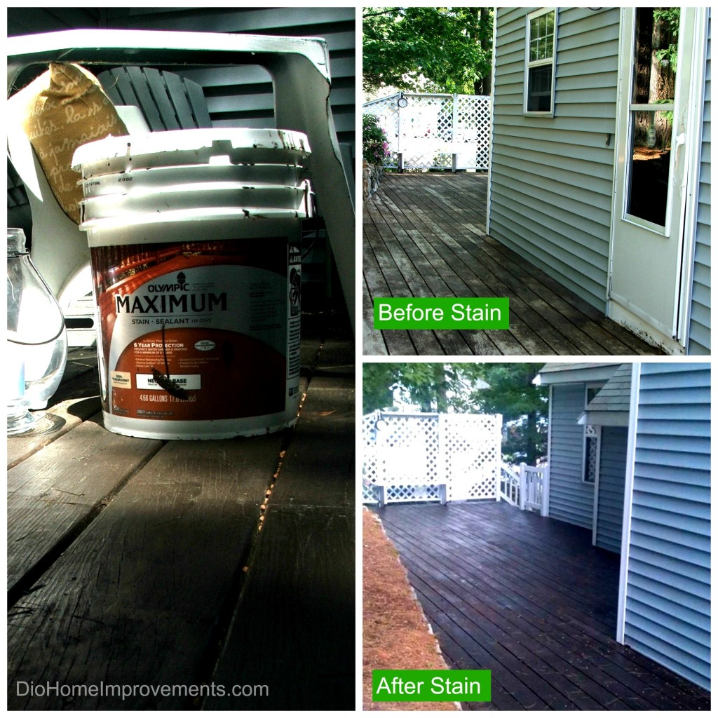 Olympic Maximum Stain  #uptothetest - Before & After Deck