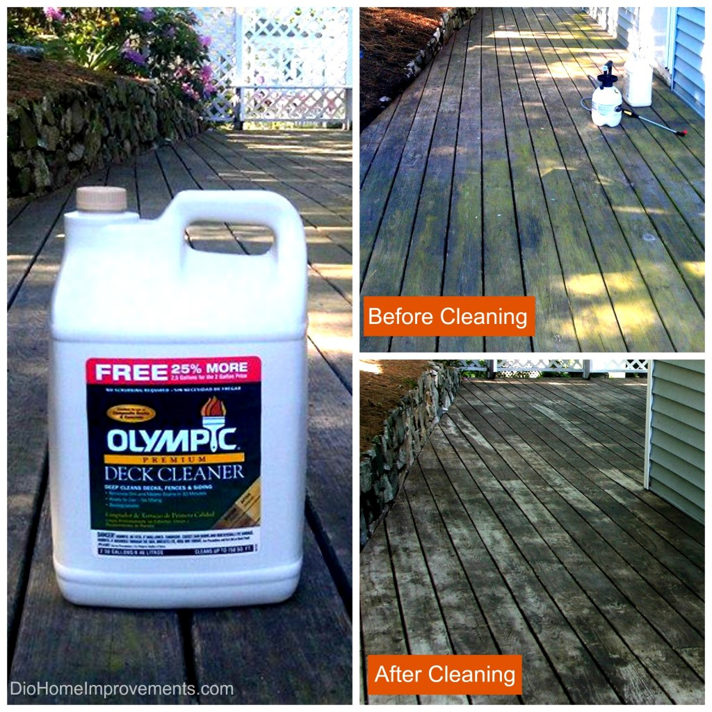 Olympic Premium Deck Cleaner  #uptothetest - Deck Before & After