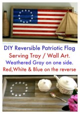 DIY Reversible Flag Tray/Wall Art