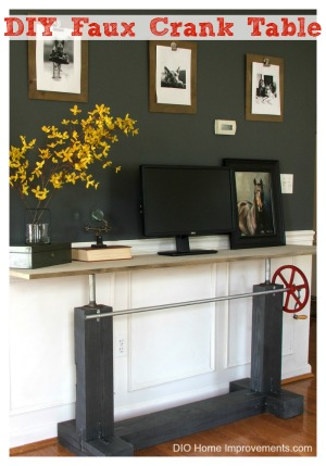 DIY Faux Crank Table