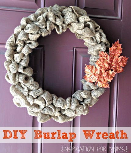 Fall Projects, Burlap Wreath