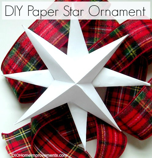 DIY Christmas Projects, Paper Star Ornament
