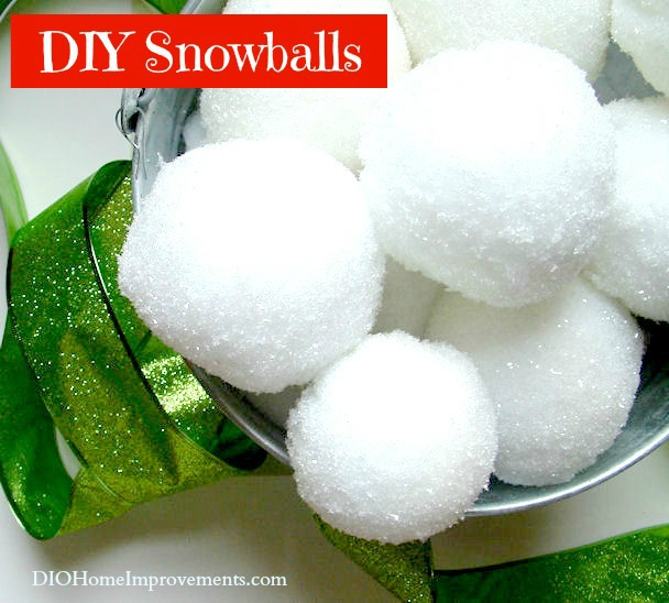 DIY Christmas Projects, Snow Balls