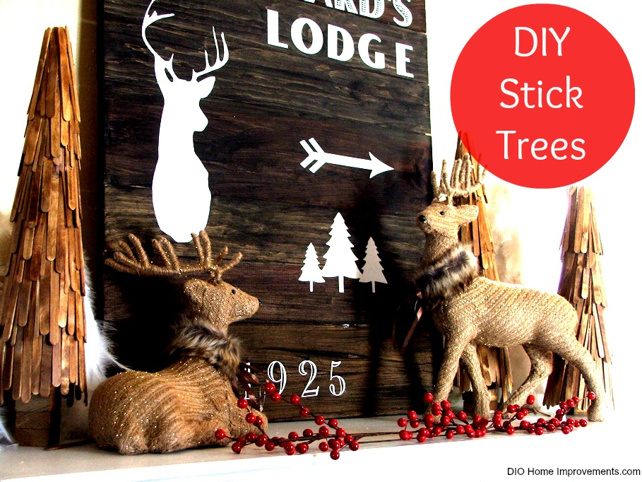DIY Christmas Projects, Stick Trees