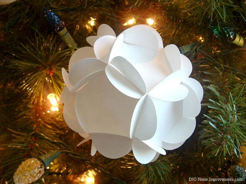 DIY Christmas Projects, Paper Spheres