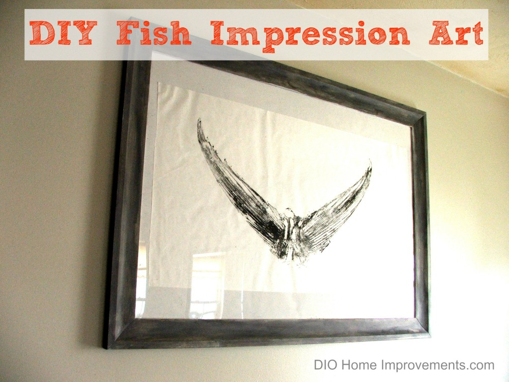 DIY Fish Impression Art