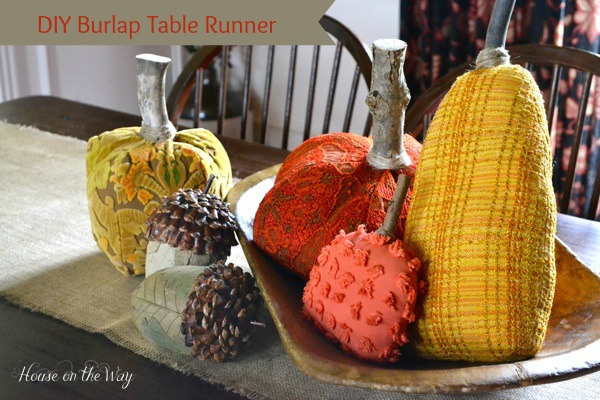 Fall Projects, Burlap Table Runner
