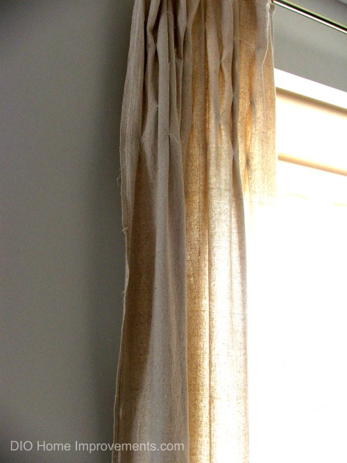 DIY Drop Cloth Smocked Curtains