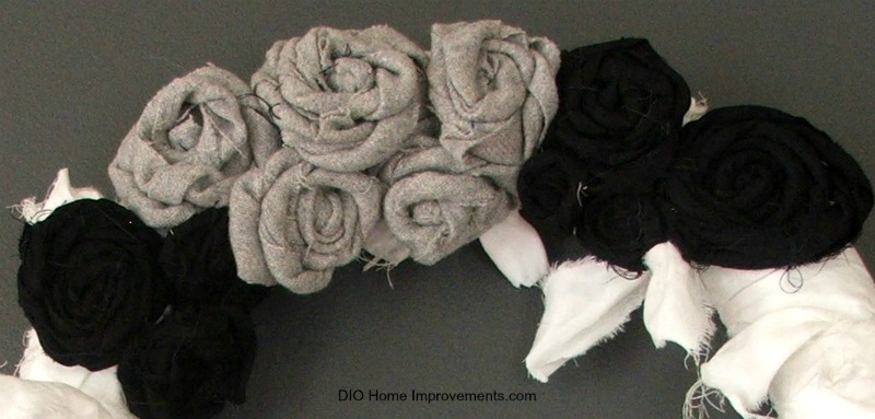 DIY Mummy Wreath Rosette Flowers