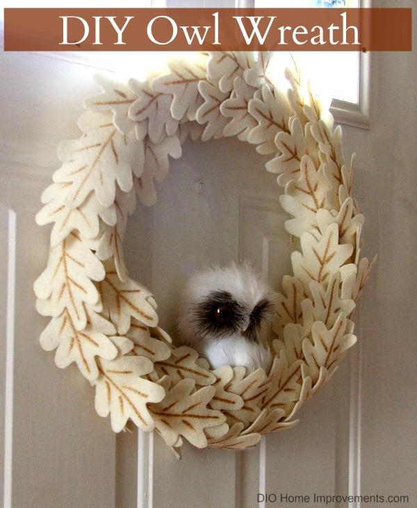 DIY Anthropologie Knockoff Owl Wreath