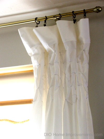 DIY Smocked Sheet Curtains, Frugal