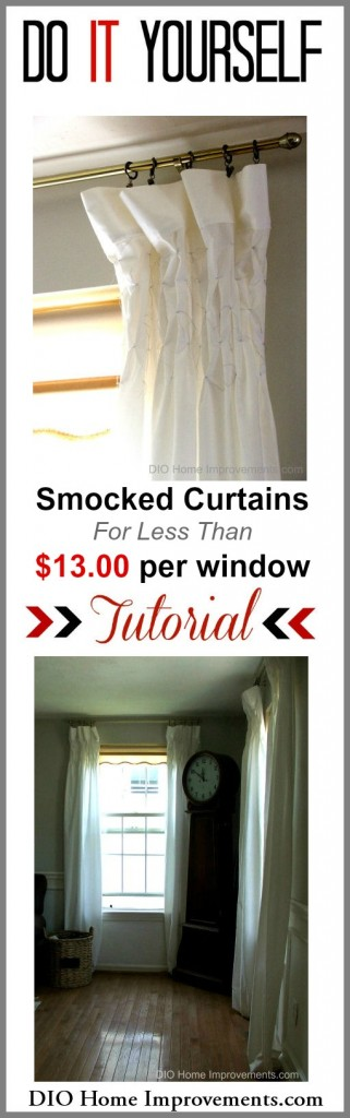Smocked Curtains Tutorial