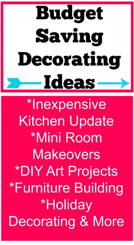 budget saving decorating ideas