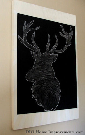 2014 Christmas Tour - Dio Home Improvements.com - DIY Chalk Deer