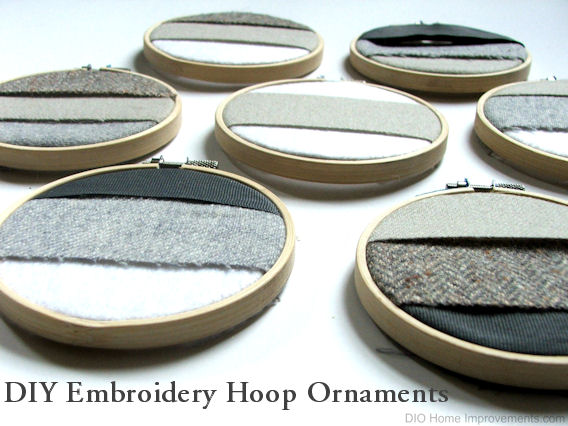 DIY Embroidery Hoop Ornaments