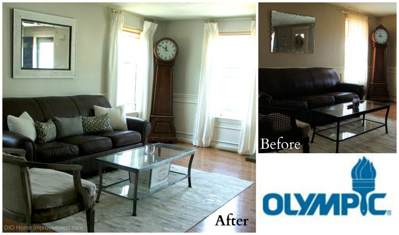 Living Room Makeover - Olympic Paint #sponsored - 2014 Year End Review