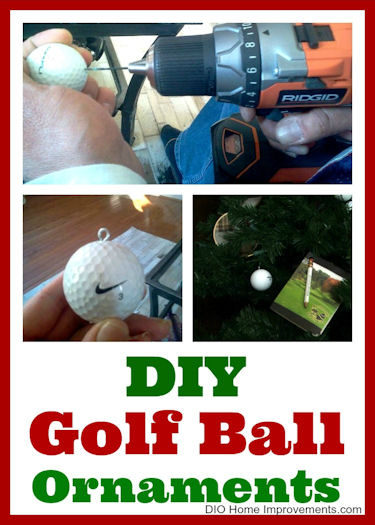 DIY Golf Ball Ornaments