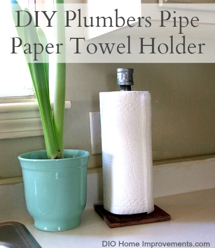 DIY Industrial Plumbers Pipe Paper Towel Holder