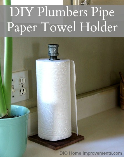 DIY Plumbers Pipe Paper Towel Holder