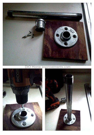 Plumbers Pipe Photo Steps to make a Industrial Paper Towel Holder & A Photo Frame Holder