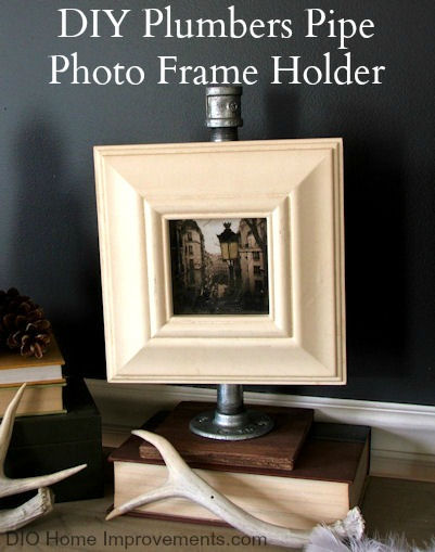 Plumbers Pipe Photo Frame Holder