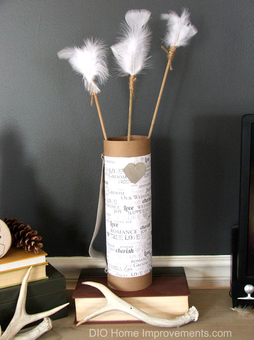 DIY Arrows & Quivers , Subtle Valentines Decor, Industrial Farmhouse Valentines, DIY Valentines.  Paper Quiver