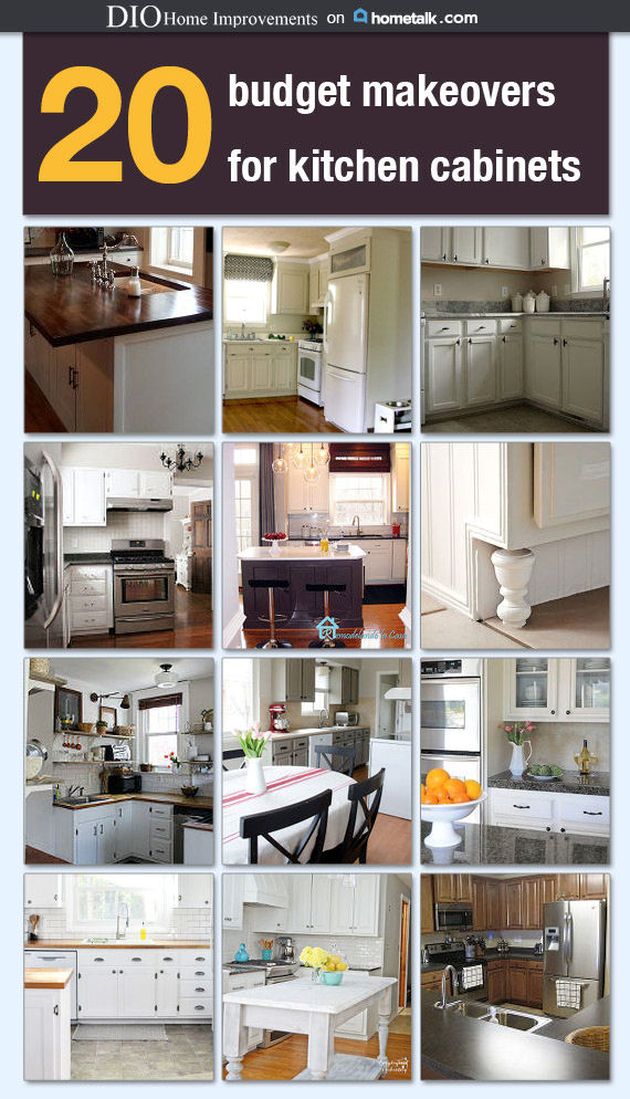 20 Budget Kitchen Cabinet Makeovers!