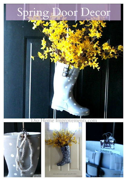 2015 Spring Door Decor, Boot wreath