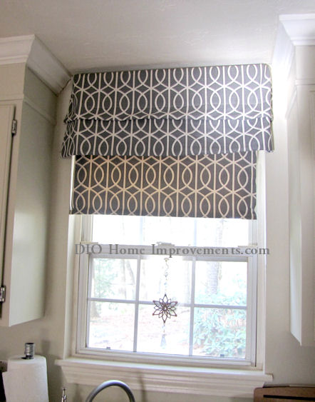 Faux Roman Shade and Roller Shade