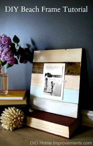 DIY Beach Frame Tutorial Knockoff